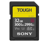 карта памяти Sony SF-G32T SDHC 32GB Tough UHS-II 299/300Mb/s (U3, V90)